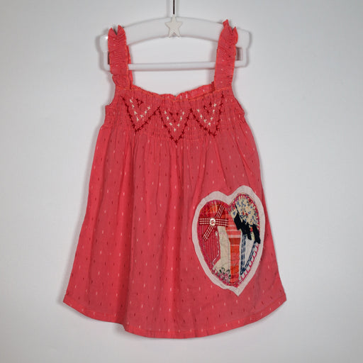 Girls T-shirt - 06-09M Pink Patchwork Heart Top