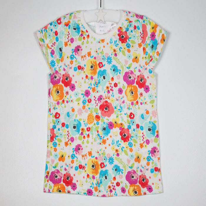 Girls T-shirt - 09-12M Watercolour Flowers Tee