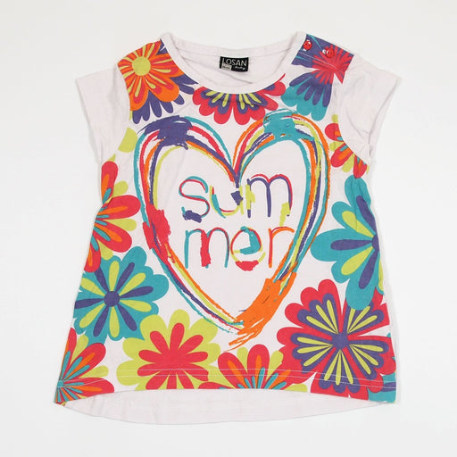 Girls T-shirt - 18-24 Colourful Heart T-Shirt