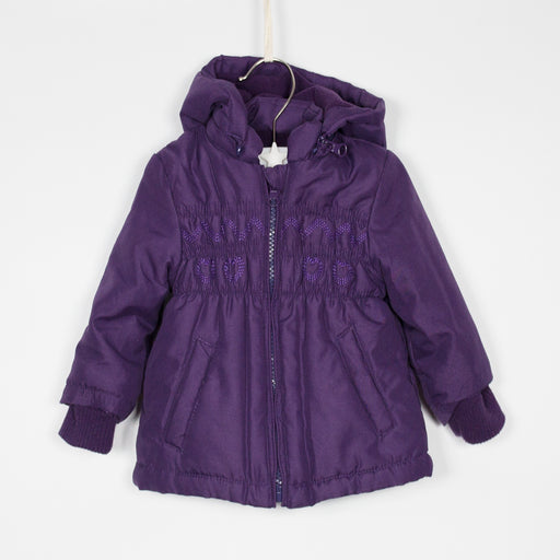 Jacket - 03-06M Purple Hearts Coat
