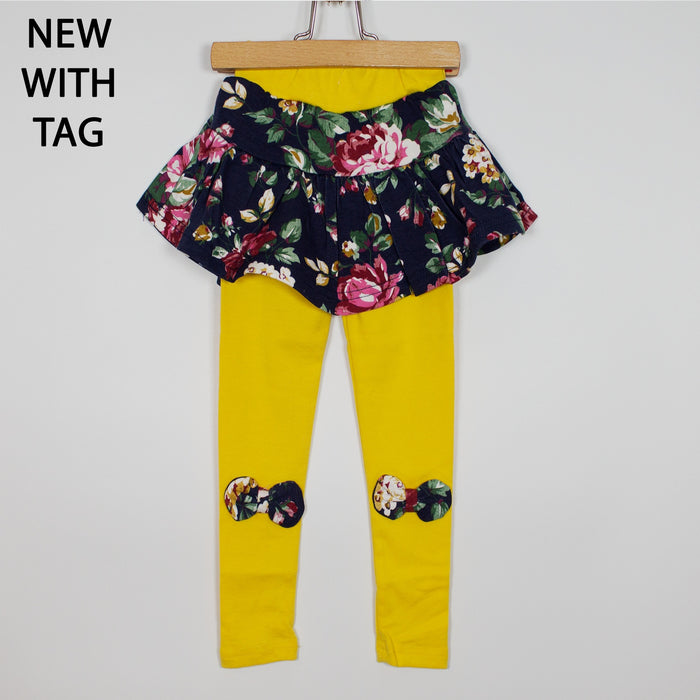 Leggings - 12-18M Yellow Skirted Leggings