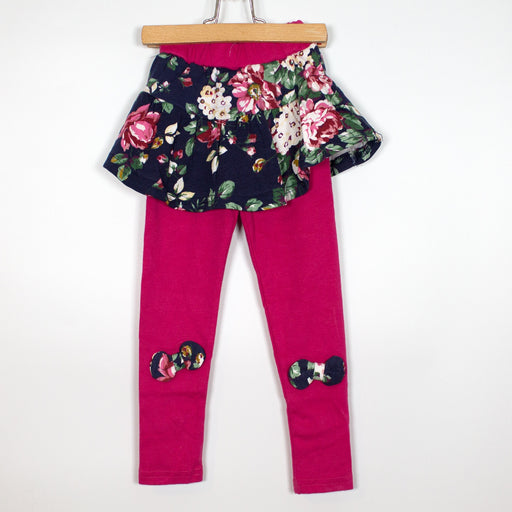 Leggings - 2-3Y Pink Leggings With Skirt