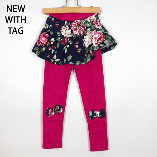 Leggings - 2-3Y Pink Skirted Leggings
