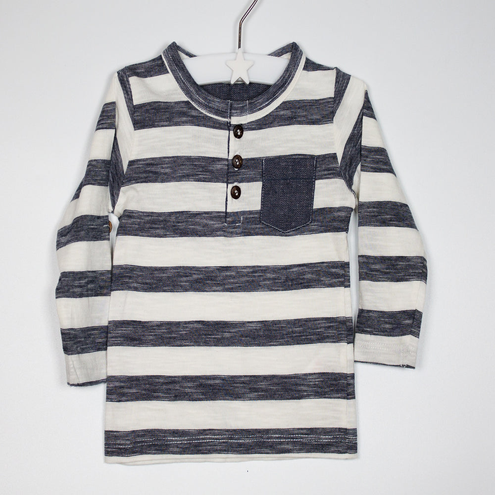 Long Sleeve - 03-06M Smart/Casual Striped Top