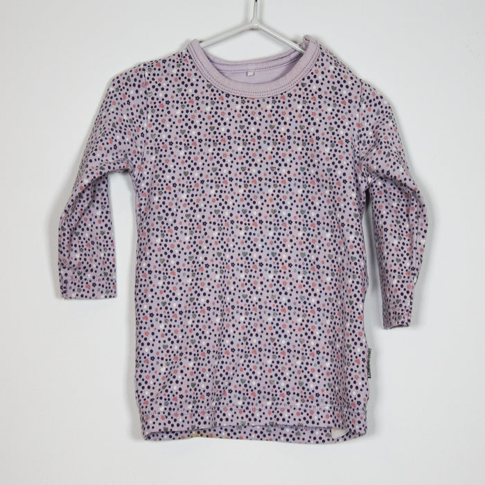 Long Sleeve - 1-2M Lilac Grey Top