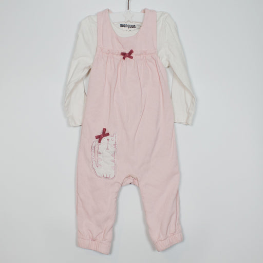 Set - 03-06M Kitten Dungaree Set