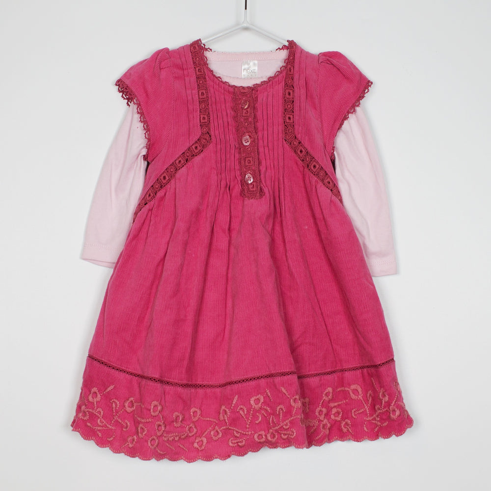 Set - 3-6M Corduroy Dress Set
