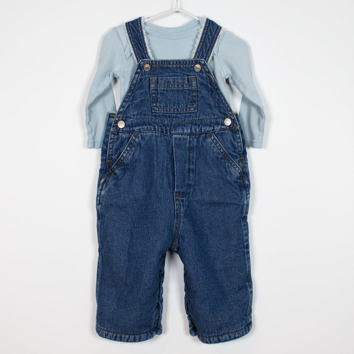 Set - 3-6M Super Warm Dungaree Set