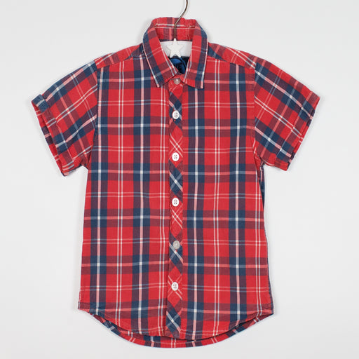 Shirt - 36-48/3-4 Red/Blue Check Shirt