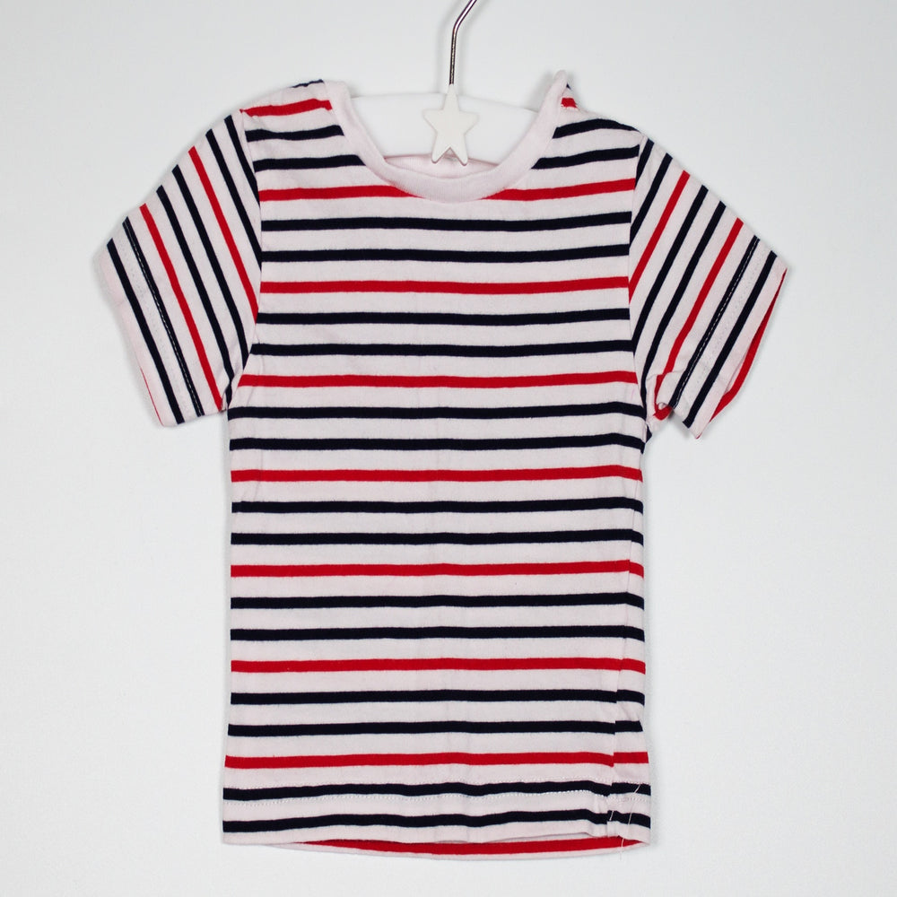 T-shirt - 00-03M Navy/Red/White Striped Tee