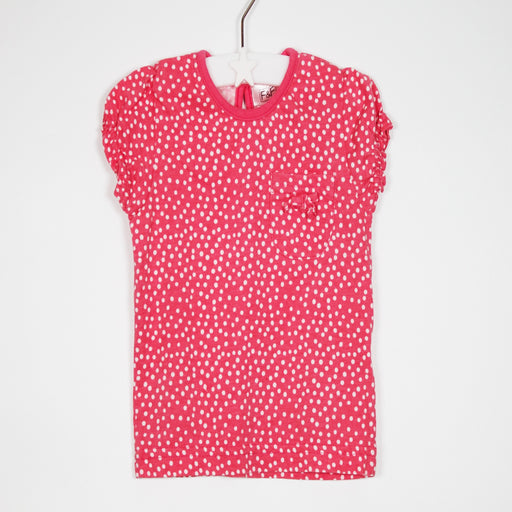 T-shirt - 03-06M Pink Polka Dot T-shirt