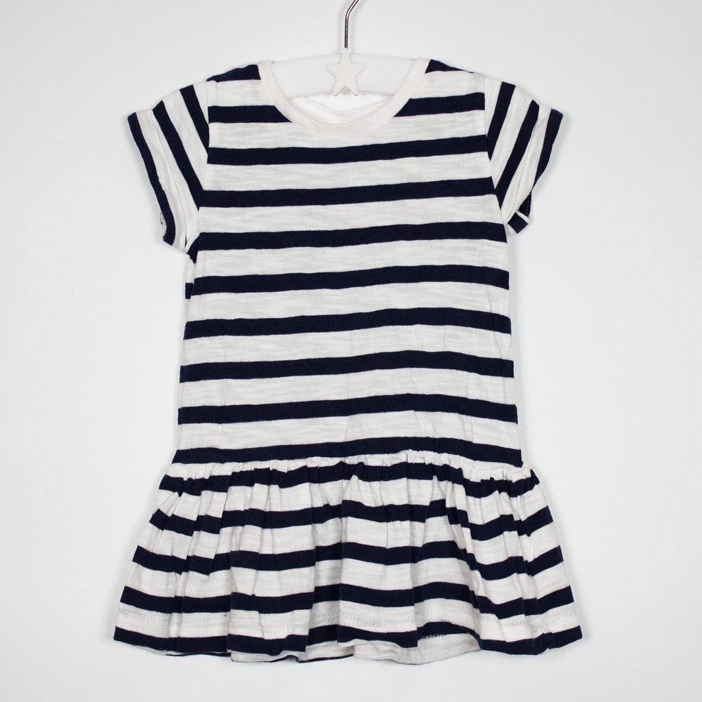 T-shirt - 03-06M Striped Peplum Tee