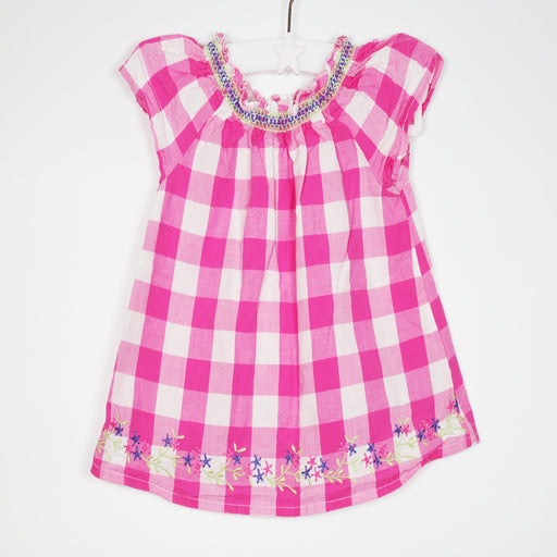 Top - 03-06M Pink Check Top