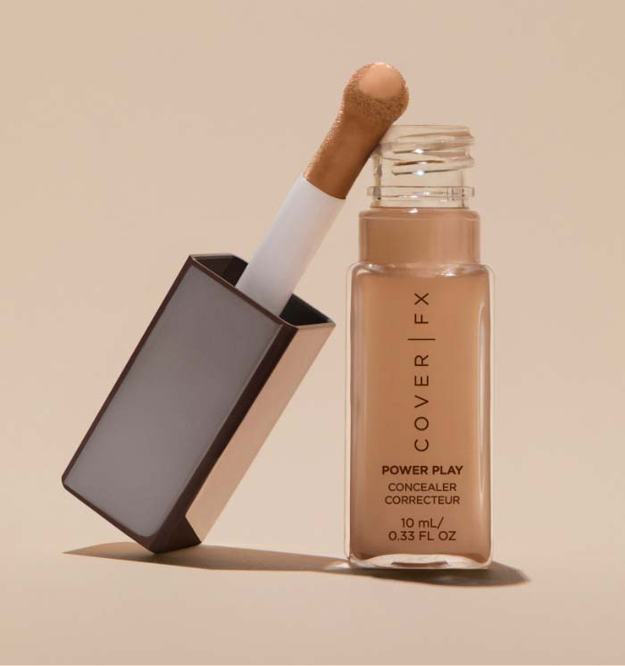 Power Play Concealer Corrector open with applicator leaning against it