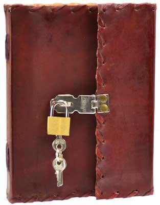 1842 Leather Journal With Lock & Key