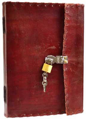 1842 Poetry Leather With Lock & Key