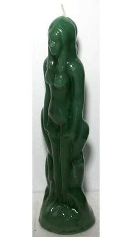 Green Female Candle