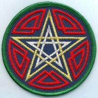 "3"" Celtic Pentacle Sew-on Patch"