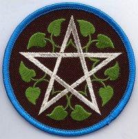 "3"" Leafy Pentacle Sew-on Patch"