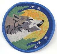 "3"" Wolf Sew-on Patch"
