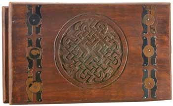"10"" x 6"" Celtic Knot Wooden Chest"