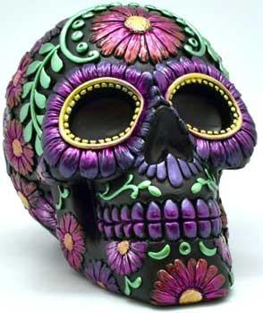 Big Purple Metallic Skull Bank