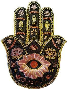 Black & Gold Hamsa Hand Box