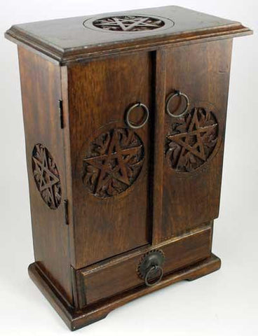 "10.5"" Wooden Pentacle Cupboard"