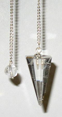 6-sided Clear Quartz Pendulum