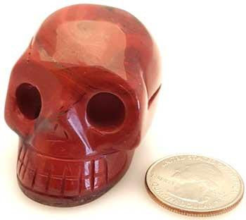 "1.5"" Red Jasper Skull, part of the Stones Crystals And Gems collection @ Wicca.io"