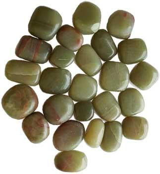 1 Lb Green Aragonite (Tumbled), part of the Stones Crystals And Gems collection @ Wicca.io