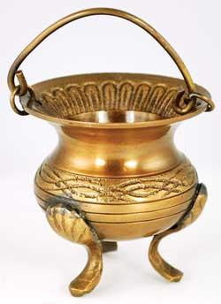 "3"" Celtic Brass Cauldron"