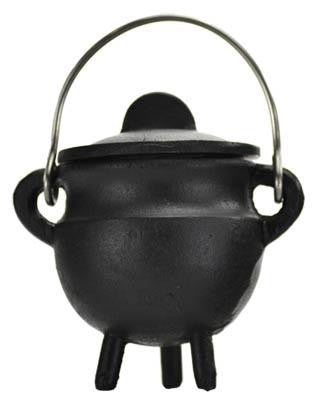 "2.75"" Plain Cast Iron Cauldron with Lid"