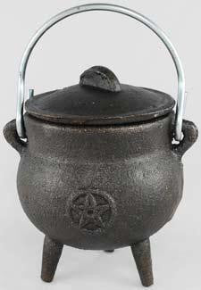 "3"" Pentacle Cast Iron Cauldron"