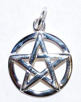 Raised Silver Pentacle Charm