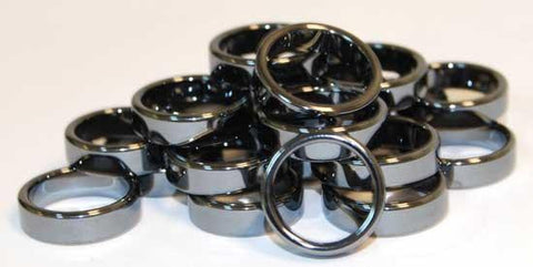 6mm Flat Hematite Rings (20-bag)