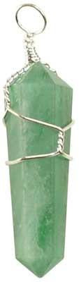 Wire-Wrapped Green Aventurine Point