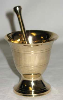 "2.75"" Brass Mortar and Pestle"