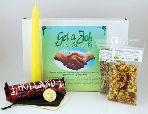 """Get A Job"" Boxed Ritual Kit, part of the Ritual Tools And Spell Supplies collection @ Wicca.io"