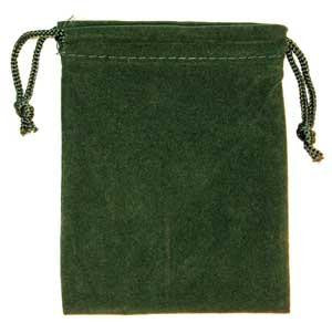 Bag Velveteen: 3 X 4 Green