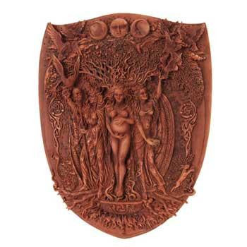 Triple Goddess Wall Plaque