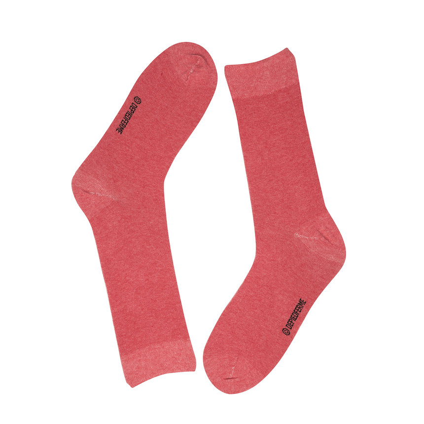 MEN COLOR SOCKS - RED MELANGE