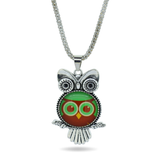 Owl Cabochon Necklace