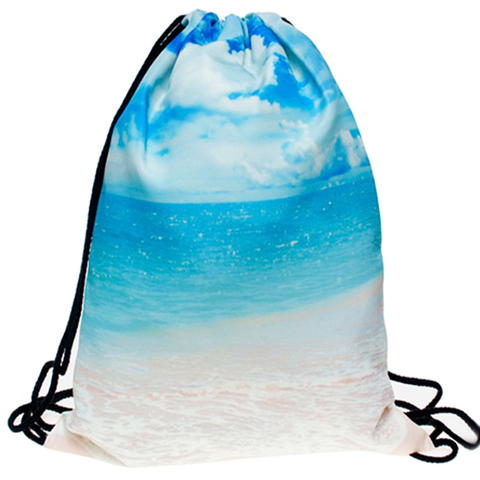 Beach Life Drawstring Bag