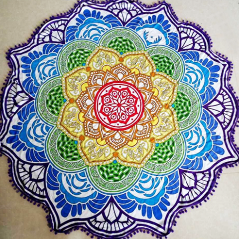 Mandala Lotus Print Tapestries