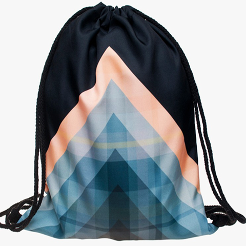 Geometric Shapes Drawstring Bag
