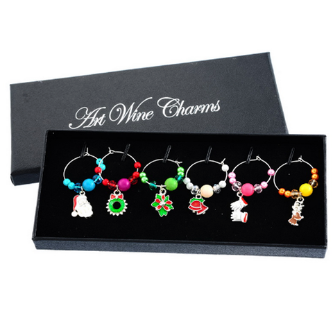 Holiday Wine Glass Charms