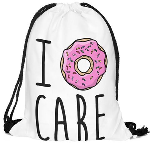 I Donut Care Drawstring Bag