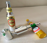 Mini Beer Bottle Concealed Pipe