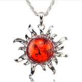 Tibetan Fiery Sun Necklace